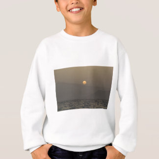 Sunset over Paros island mountains Sweatshirt