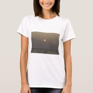 Sunset over Paros island mountains T-Shirt