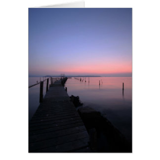 SUNSET OVER POOLE HARBOUR, POOLE, DORSET, ENGLAND. CARD