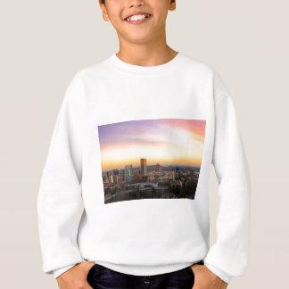 Sunset over Portland OR Cityscape and Mt Hood Sweatshirt