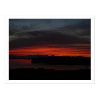 Sunset over Puget Sound Postcard