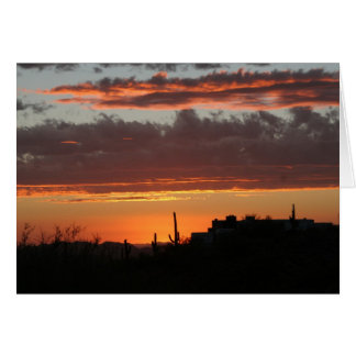 Sunset over Scottsdale Card