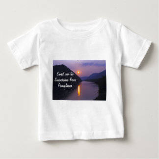 Sunset over Susquehanna River Pennsylvania Baby T-Shirt