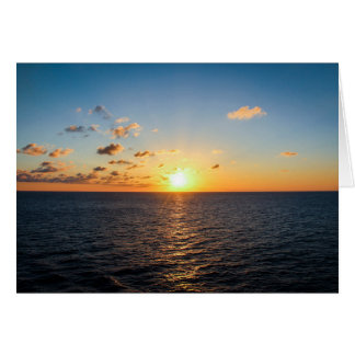 Sunset Over The Atlantic Ocean Card