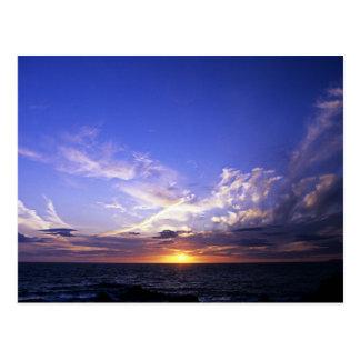Sunset over the Atlantic. Postcard