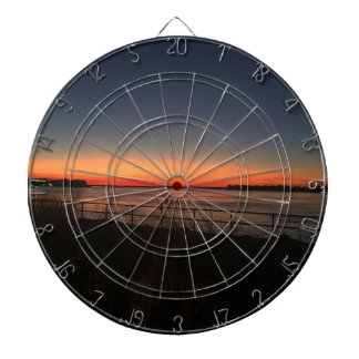 sunset over the bay dartboard