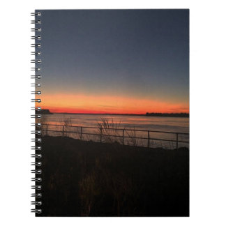 sunset over the bay notebook