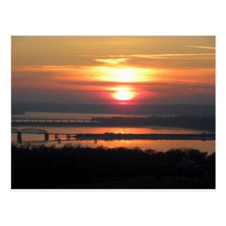 "Sunset over the ""Big Muddy"" Postcard"