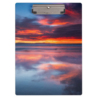 Sunset over the Channel Islands, CA Clipboards