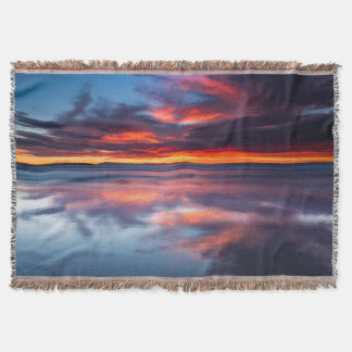 Sunset over the Channel Islands, CA Throw Blanket