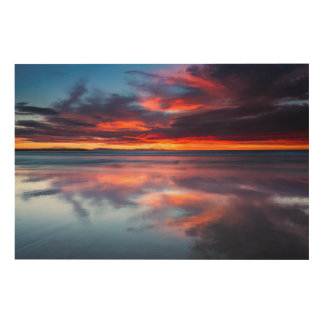 Sunset over the Channel Islands, CA Wood Canvas