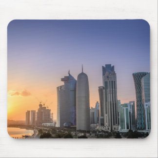 Sunset over the city of Doha, Qatar Mouse Pad