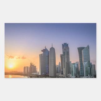 Sunset over the city of Doha, Qatar Sticker