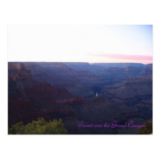 Sunset over the Grand Canyon Postcard