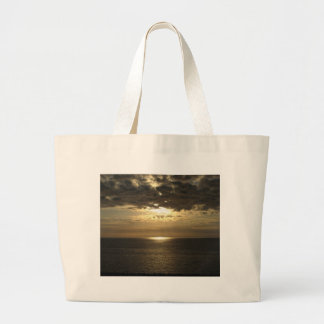 Sunset Over The Gulf of Mexico Large Tote Bag