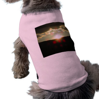 Sunset over the hill pet tshirt