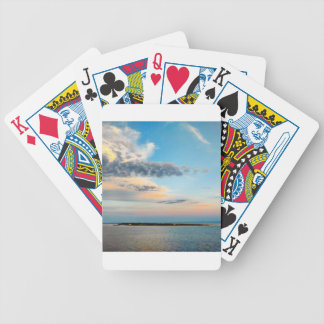 Sunset over the Island Bicycle Playing Cards
