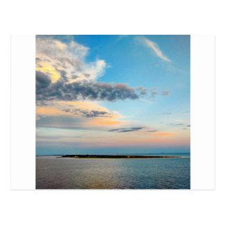 Sunset over the Island Postcard