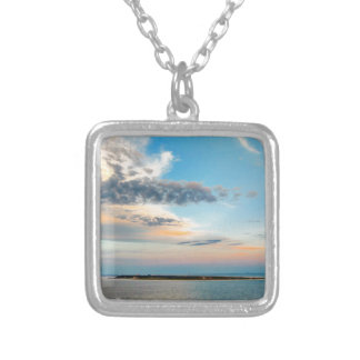 Sunset over the Island Silver Plated Necklace