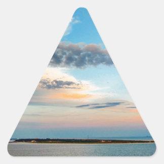 Sunset over the Island Triangle Sticker