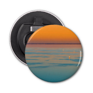 Sunset over the lake Balaton, Hungary Bottle Opener