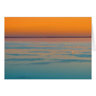 Sunset over the lake Balaton, Hungary Card