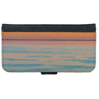 Sunset over the lake Balaton, Hungary iPhone 6 Wallet Case