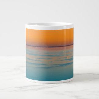 Sunset over the lake Balaton, Hungary Large Coffee Mug