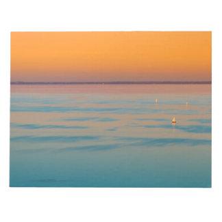 Sunset over the lake Balaton, Hungary Notepad