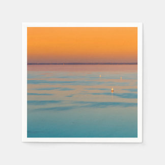 Sunset over the lake Balaton, Hungary Paper Napkin
