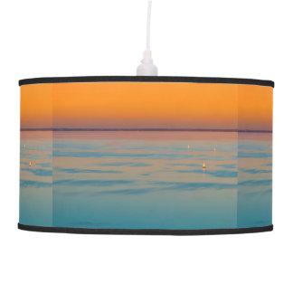 Sunset over the lake Balaton, Hungary Pendant Lamp