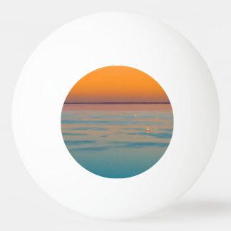 Sunset over the lake Balaton, Hungary Ping Pong Ball