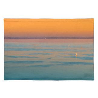 Sunset over the lake Balaton, Hungary Place Mats