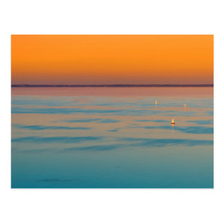 Sunset over the lake Balaton, Hungary Postcard