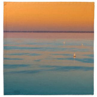 Sunset over the lake Balaton, Hungary Printed Napkin
