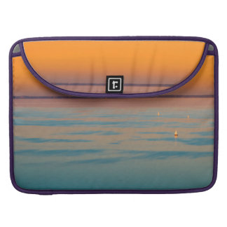 Sunset over the lake Balaton, Hungary Sleeve For MacBook Pro