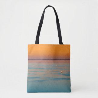 Sunset over the lake Balaton, Hungary Tote Bag