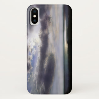 Sunset over the lake iPhone x case