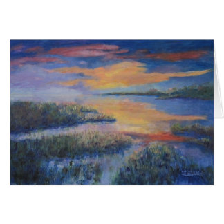 Sunset Over the Marsh Card