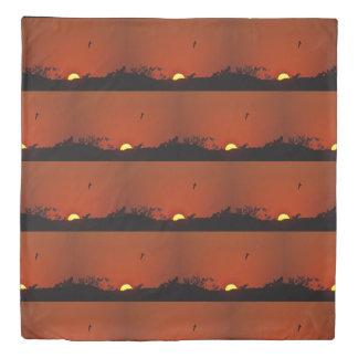Sunset Over The Marsh Duvet Cover