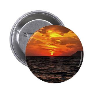 Sunset Over the Mediterranean Sea 2 Inch Round Button