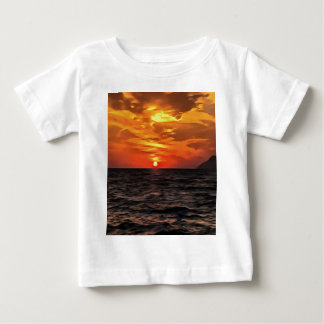 Sunset Over the Mediterranean Sea Baby T-Shirt