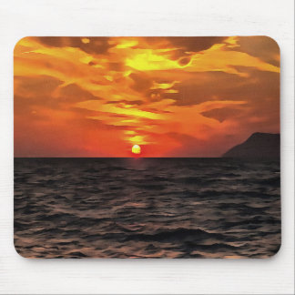 Sunset Over the Mediterranean Sea Mouse Pad