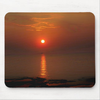 Sunset over the Ocean Mouse Pad