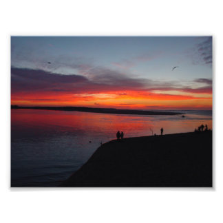 Sunset over the Ocean Photo Print