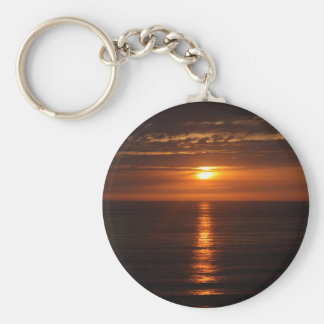 Sunset Over the Pacific Basic Round Button Keychain