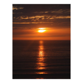 Sunset Over the Pacific Letterhead