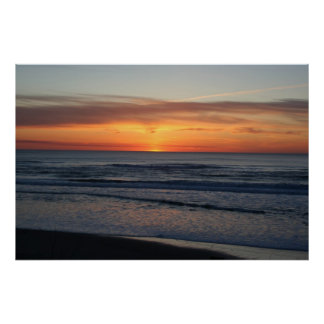 Sunset over the Pacific Ocean Posters