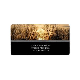 Sunset over the Park Address Labels