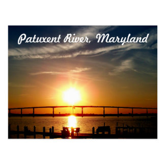 Sunset over the Patuxent River, Solomons Island Postcard